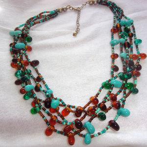 Jewelry - Southwestern pallet beaded necklace adjustable